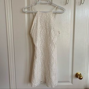 Forever21 White Lace Dress with Criss Cross Sides